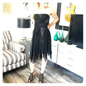 Bcbg Maxazria Runway black cocktail dress Sz 8.